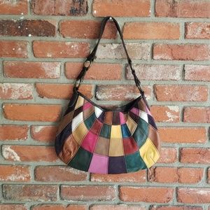 Lucky Brand Suede Patchwork Purse